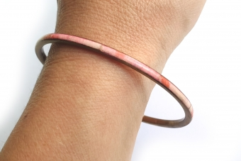 Supervintage armband / bangle gold pink