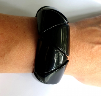 SUPERVINTAGE BANGLE / ARMBAND BLACK geo