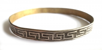 SUPERVINTAGE BANGLE / ARMBAND silver pattern