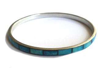 SUPERVINTAGE BANGLE / ARMBAND turquoise blue