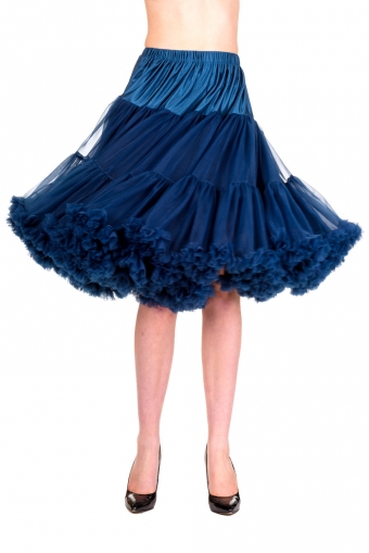 Banned Apparel navy blauw dubbellaags petticoat rok 50-55 cm