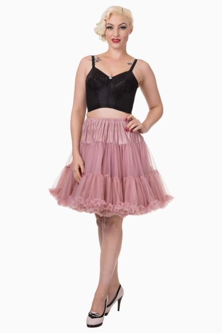 Banned Apparel Dusty Rose Petticoat 50 cm