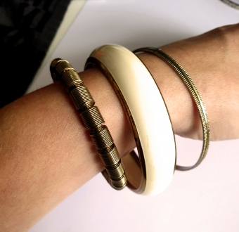SUPERVINTAGE BANGLE / ARMBAND goldish