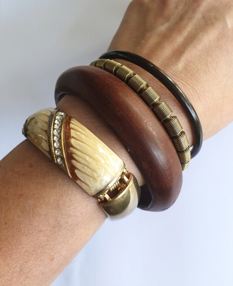 SUPERVINTAGE BANGLE / ARMBAND wood