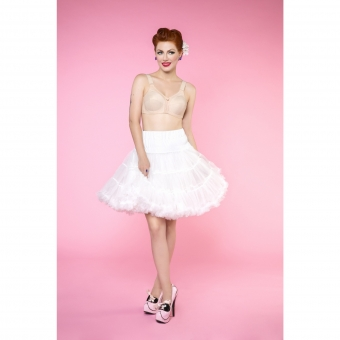Dolly & Dotty off white dubbellaags petticoat rok 50 -55 cm