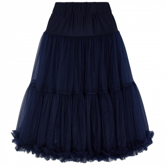 Dolly and Dotty navy blue long flared petticoat 65 cm