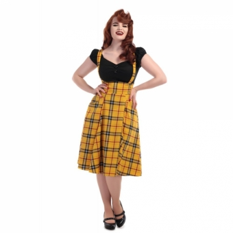 COLLECTIF MAINLINE ALEXA CLUELESS CHECK SWING SKIRT