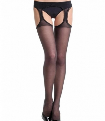 SUPERVINTAGE AMOUR 20 DEN BLACK PANTY