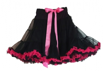 Dolly and Dotty Black Fuchsia petticoat 50-55 cm