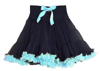 Dolly and Dotty black light blue petticoat met lichtblauw 50-55 cm