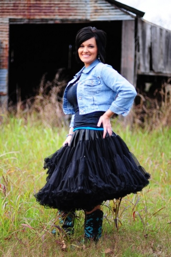 Dolly and Dotty 4 laags volle petticoat rok 60 cm