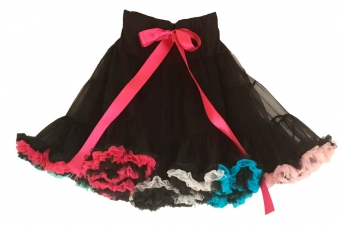 Dolly and Dotty Black Rainbow petticoat 50-55 cm