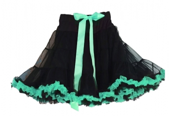 Dolly and Dotty Black Turquoise petticoat 50 - 55 cm
