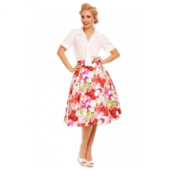 Dolly and Dotty PINK FLOWERS BLOSSOM SKIRT