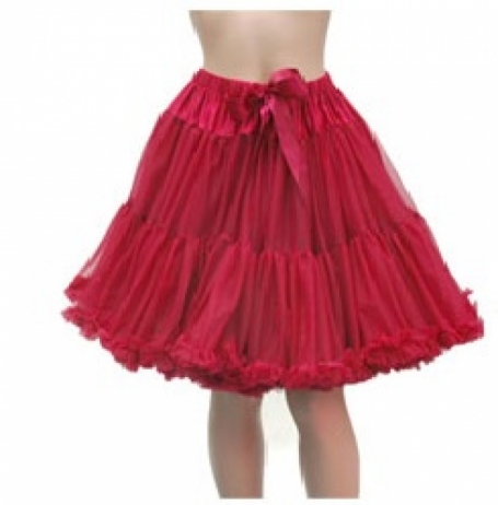 Banned Apparel Bordeaux Rood 4 laags petticoat50 cm