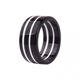 Cactula funky striped  thick black white bangle