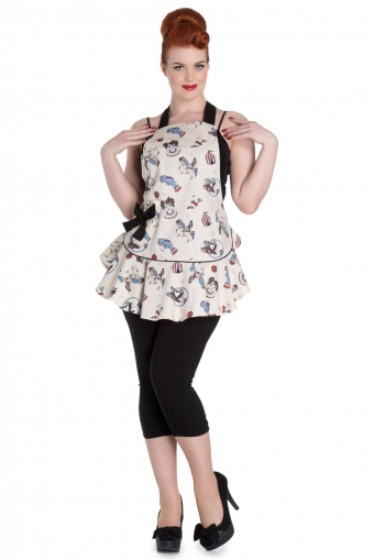 Hell Bunny funky circus apron
