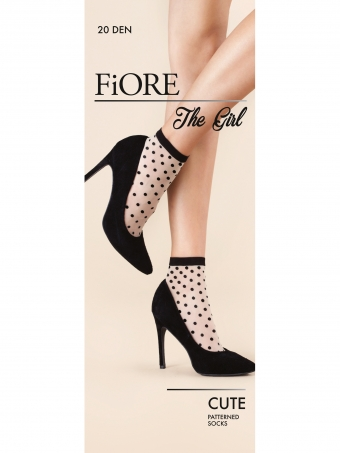 Fiore the girl cute dotted patterned socks