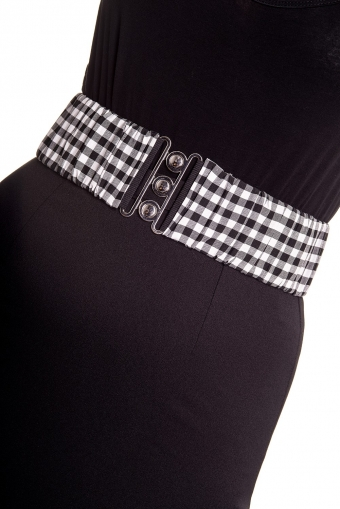 Hell Bunny black white gingham belt