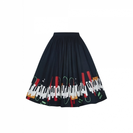 COLLECTIF MAINLINE JASMINE JAZZ SKIRT