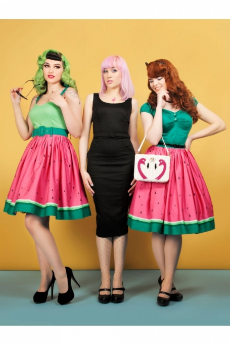 Collectif Watermelon Jasmine Skirt