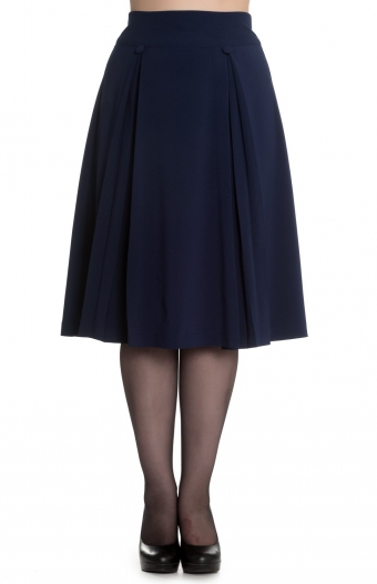 Hell Bunny blue pleated skirt Kennedy