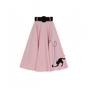 COLLECTIF MAINLINE KITTY CAT SWING SKIRT