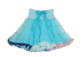 Dolly and Dotty lichtblauwe regenboog petticoat rok