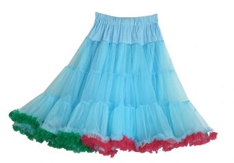 Dolly and Dotty Light blue Rainbow petticoat 65 cm