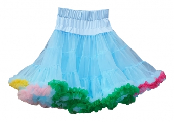 Dolly and Dotty Light blue petticoat met zomer kleuren 50-55 cm