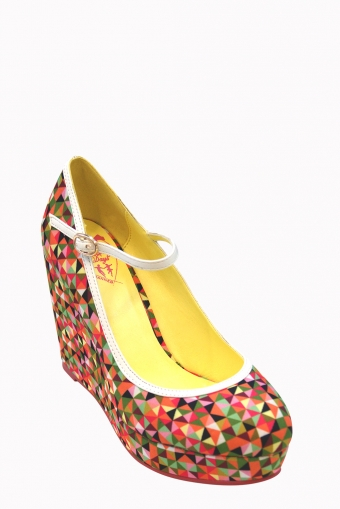 Dancing Days by Banned Apparel Mary Jane Wedge pumps