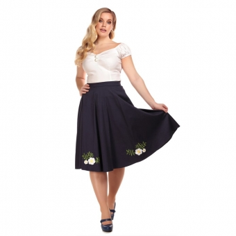 COLLECTIF VINTAGE MATILDE CAMELIA SWING SKIRT