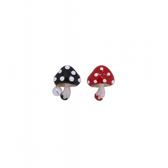 COLLECTIF ACCESSORIES MUSHIES BROOCH SET