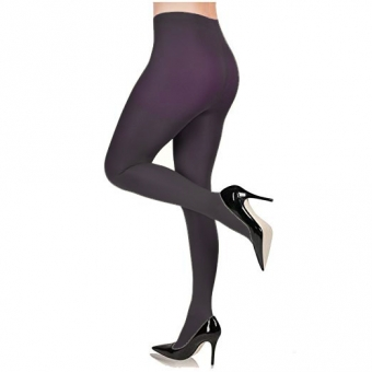 SUPERVINTAGE 100 DENIER TIGHTS OLGA AUBERGINE