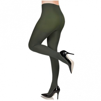 FIORE BLACK 100 DENIER PANTY AUTUMN GREEN