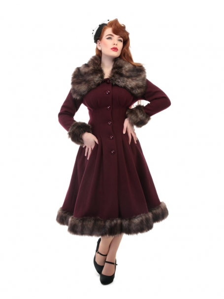 COLLECTIF VINTAGE PEARL COAT WINE