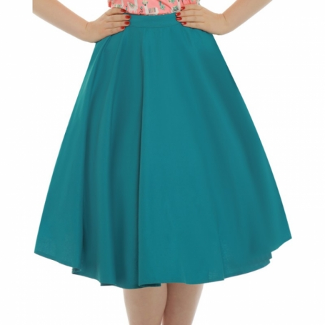 Lindy Bop 'Peggy Sue' Teal Full Circle Skirt