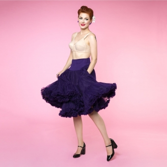 Dolly and Dotty purple long flared petticoat 65 cm