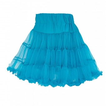Dolly and Dotty turquoise blauwe petticoat rok 45 cm