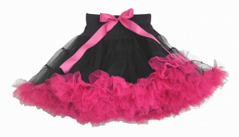Dolly and Dotty black petticoat met fuchsia roze 50 cm