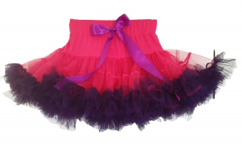 Dolly and Dotty hot pink petticoat met paars kort model 35 cm