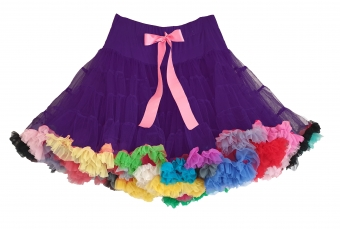 Dolly and Dotty paars EXTRA DIKKE petticoat regenboog rok 55-60 cm