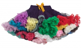 Dolly and Dotty Purple Regenboog petticoat rok 60 cm