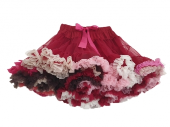 Dolly and Dotty Ruby Red rainbow petticoat 50 - 55 cm