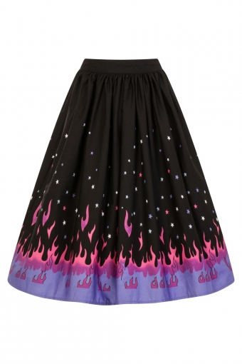 Hell Bunny Pinball swing skirt