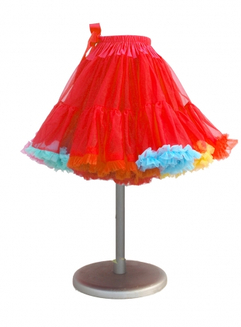 Supervintage Red Rainbow Petticoat