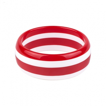 Cactula funky striped  red and white bangle