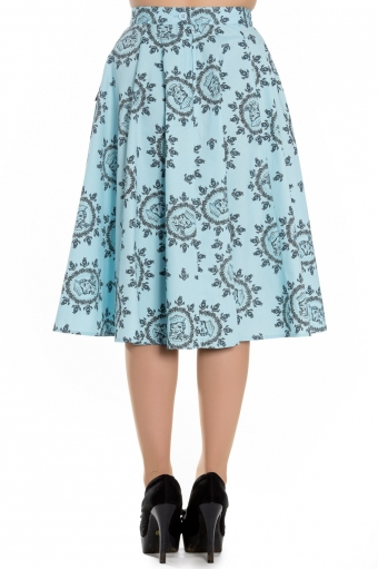 Hell Bunny Sailor skirt in Blue