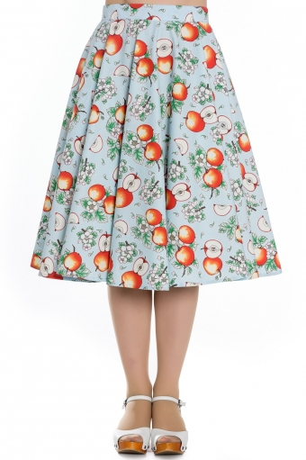 Hell Bunny Somerset skirt in blue