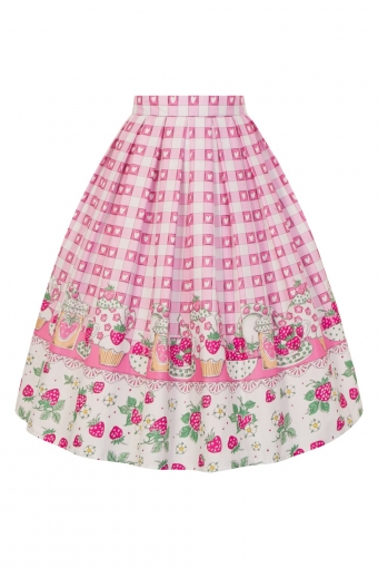 Hell Bunny STRAWBERRY SHORTCAKE SKIRT